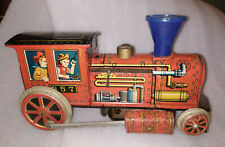 VINTAGE MODERN TOYS JAPAN MODEL 357 TRAIN ENGINE BATTERY OPERATED WORKING 1970