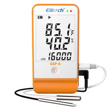 Elitech Gsp 6 Temperature Data Logger Humidity Recorder External Sensor Usb Port