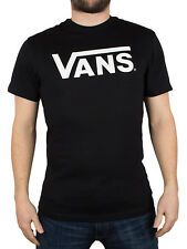 Vans T-Shirt Classic Black White Blue Mens Shirt Print Short  XS,S,M,LG,XL New