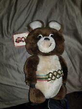 "Vintage Olympics Mascot 1979 Misha Plush Bear Russia Moscow Dakin 12"""