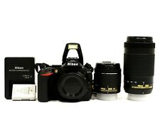 SHUTTER COUNT: 652 | Nikon D5600 DSLR 24.2MP Camera +AF-P 18-55mm &70-300mm Lens