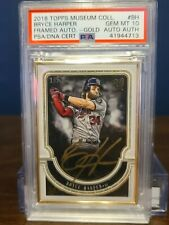 2018 Topps Museum Collection Bryce Harper Gold Framed Autograph; PSA 10; 10/10