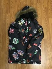 Trukfit by Lil' Wayne Logo Puffer Jacket Rare Youth L Black Limited Edition