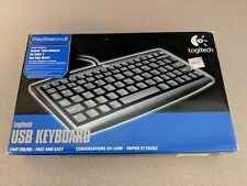 LOGITECH USB WIRED KEYBOARD FOR SONY PLAYSTATION 2 PS2 W BOX GREAT CONDITION