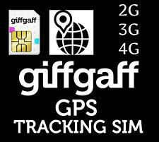 2G,3G,4G GPS GPRS APN Tracker PAYG Sim Card £5 FREE GiffGaff O2 Gifgaf *FITS ALL