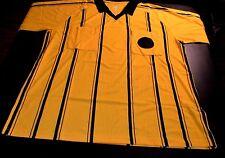 Soccer Futsal Referee Jersey Shirt Yellow & Black Short Sleeve Adult L NIB 157-4