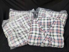 "Set 4 Longaberger Market Day Plaid Chair Pad Seat Cushion Pillow New 16"" X 16"""