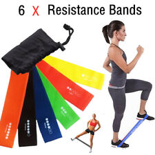Resistance Bands Loop Set Exercise Sports Fitness Home Gym Yoga Latex Set of 6 U