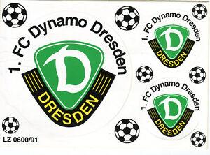 AK PVC Aufkleber Postkartenformat 1. FC Dynamo Dresden Fußball A_800