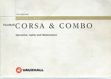 OWNERS MANUAL / HANDBOOK  VAUXHALL CORSA  & COMBO