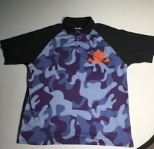TATTOO GOLF CAMO PIRATE PERFORMANCE S/S POLO Camouflage Stretch sz L Polo Shirt