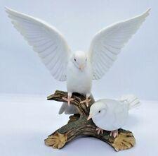 Homco Masterpiece Porcelain 1985 Rare Perched Doves Birds Figurine Vintage Euc!