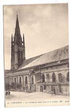 libourne , la cathédrale saint-jain et le clocher