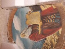 Moses & The 10 Commandments Collector's Plate 24k Gold Trim Never Displayed Nib