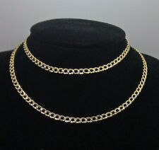 Real 10k Yellow Gold Link Chain With Diamond Cuts 4mm 24 Inches Men's Ladies N