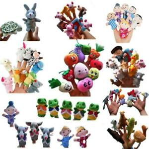 Family Finger Puppets Kids Plush Dolls Baby Educational Hand Toys Story Games