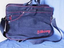 Billabong Unisex Crossbody Messenger Computer Book Bag Denim Blue & Red