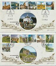 More details for 10 apr 2012 uk a-z pt 2 benham blcs 536 a&b 2 x first day covers shss