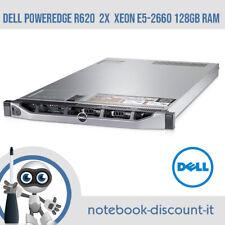 DELL PowerEdge R620  2x Intel Xeon E5-2660 128Gb RAM DDR3  Perc H310 Mini No HDD