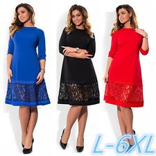 Women's Plus Size Dress Lace Sexy Loose elegant Casual Club clothing 3XL 4XL