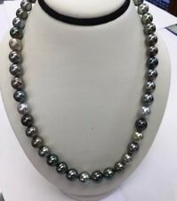 Tahitian South Sea Pearls. 9x10mm Multi Color. 14k Gold Clasp. 17""