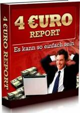 4 Euro Report eBook Geld verdienen Internet PLR-Lizenz Web Projekt Shop Domain