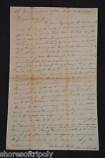 1827 GAMBLING HOUSE LETTER ~ EVIL MAN~ FREDERICK SMITH~ GAMING CASINO ~19th C