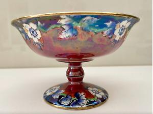 Royal Winton Grimwades Hand Painted Pedestal Bowl C1930's