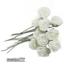 ROSE en mousse Blanche 7 cm,fleur artificielle.décoration maison mariage baptême