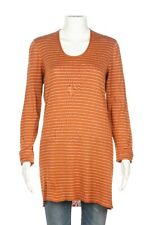 GIVENCHY Vintage Long Sleeve Tee Large Orange Striped Shirt Knit Long Blouse