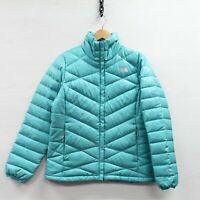 The North Face Light Puffer Jacket Womens Medium Mint Green 550 Down Insulated