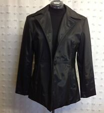 Static Women's Sz M Black Water Resistant Basic Jacket Trench Coat