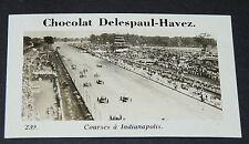 PHOTO CHOCOLAT DELESPAUL-HAVEZ 1950 ETATS UNIS USA COURSES AUTOS INDIANAPOLIS