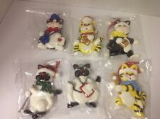 Lot of 6 work play cat Christmas tree Decorations Ornament New. Sports golf Dr.