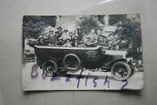 Real Photographic Postcard, Hancock's Charabanc bus, Bamford (Elgar Wright photo