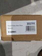 3 X BRISTAN ROUND CLICKER BASIN WASTE SLOTTED- CHROME- W BASIN04 C