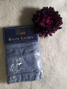Vintage Ralph Lauren Blue Chambray USA Denim look Standard Pillowcases 2 pack