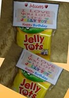 LOVE YOU LOTS LIKE JELLY TOTS  Sweets Quirky Novelty Mothers Day Gift Mum Mummy