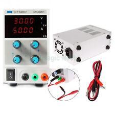 30V 5A Precision Variable Adjustable Digital DC Power Supply Cable Clip 110/220V