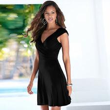 Women's ladies Summer Vneck short Length Casual Bodycon Dress Backless dress