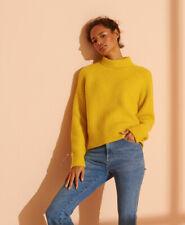 Superdry Damen Gerippter Super Lux Pullover Mit Rundhalsausschnitt