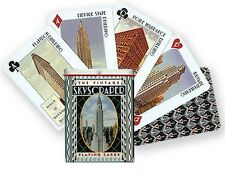 SKYSCRAPER Deck of PLAYING CARDS architecture poker in Tin