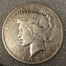 1924 🇺🇸 USA PEACE SILVER ONE 1 DOLLAR, Free combined Shipping.