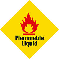 6 x Flammable Liquid Vinyl Sticker Hazard Health and Safety Home Business Shop