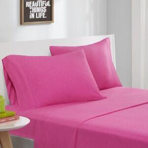 Modern Hot Pink Cotton Blend Jersey Knit Sheet Set - ALL SIZES