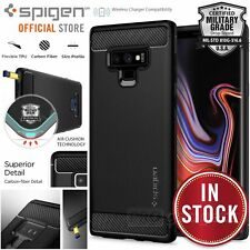 Original Spigen SGP Protective Case Galaxy Note 9 Rugged Armor Cover Vase Black