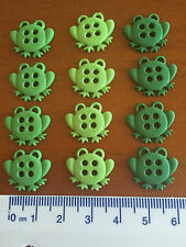 Sew Thru Green Frogs Novelty Buttons by Dress It Up Jesse James Buttons 6944