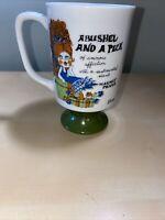 """Vintage Arnart Huggin Kissin Elena Footed Pedestal Mug Ceramic 5"""""""