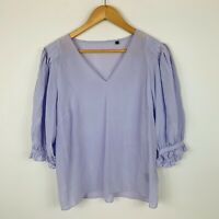David Lawrence Womens Top Size 10 Lavender Purple 3/4 Sleeve Pure Silk Gorgeous
