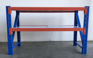 2mX0.9mX0.6m Steel Garage Workshop Workbench Racks Work Bench Shelvings